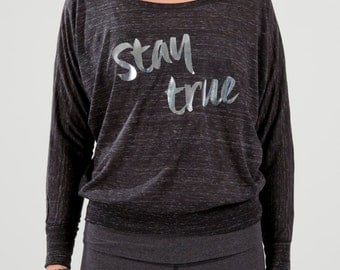 Yoga Top STAY TRUE  Off The Shoulder