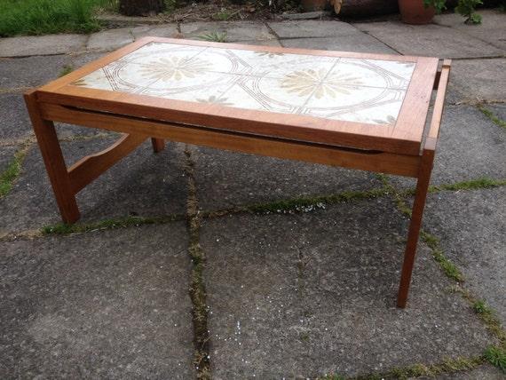 Vintage Teak Ceramic Tile Coffee Table Killearn By Fortunas14