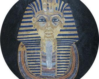 Egyptian Wall Art Pharaoh Rich Decor Marble Mosaic FG787