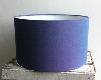 Lilac fabric Drum Lampshade