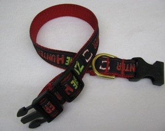 Zombie Hunter Dog Collar - MULTIPLE SIZES AVAILABLE