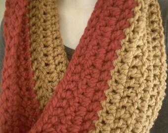 Double Crochet Cowl / Double Crochet Scarf / Chunky Scarf / Infinity Scarf