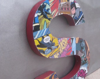 Super Hero Comic Book Letter With Red Background