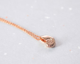 Ariel voice, Seashell, Rose gold, Necklace, Antique, Shell, Ariel, Necklace, Lovers, Friends, Sister, Gift