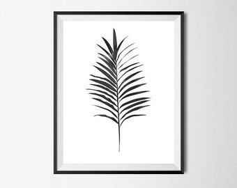 Palm Leave Print, Wall Art, Watercolor, Gallery Wall #29