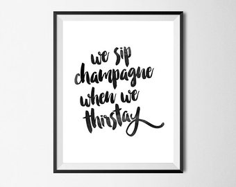 Hip Hop Wall Art Print, Notorious BIG, Champagne, Watercolor, Gallery Wall #38