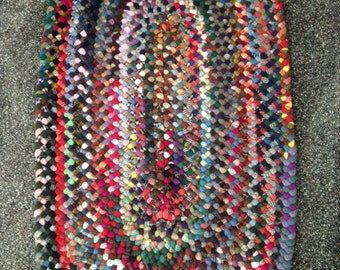 Hand braided wool rug