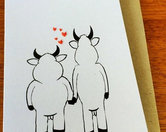 The Bulls - Greeting Card