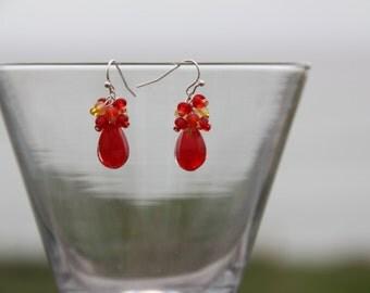 Flame Cluster Earrings