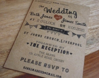 Vintage / Retro Wedding Invitation
