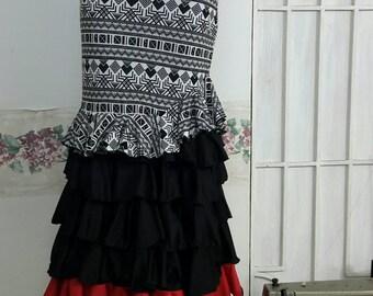 Skirt flamenco dance