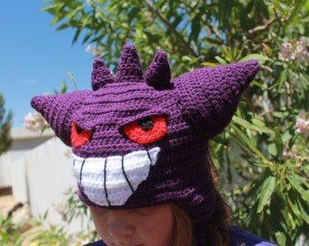 Gengar Pokemon hat// Kids Gengar Pokemon hat// Pokemon Go Gengar// Gengar Poke'mon hat