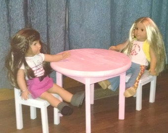 "18""  Doll Tea Time Table and Chairs"