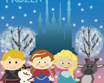 Frozen Printable Kit- Party Frozen- Birthday Frozen- Frozen Decoration- Printables Frozen , Frozen Invitations