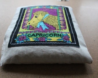 Capricorn Aromatherapy Heat/Cool Pack! Vegan Organic Wheat Pack with Zodiac Star Sign.