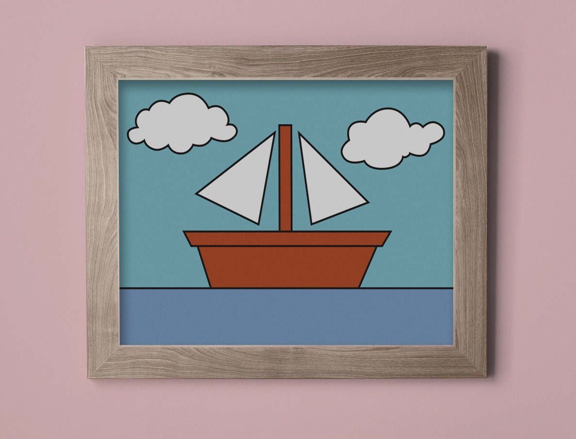 The Simpsons Boat Picture Wall Art Print Wall Hanging Poster