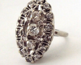 Vintage 1.06ctw diamond ring 14k white gold and 5.8 grams weight