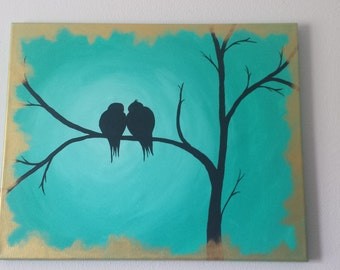Love Birds Painting 16X20