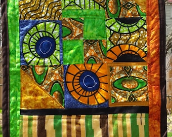 Wall hanging with Kente cloth
