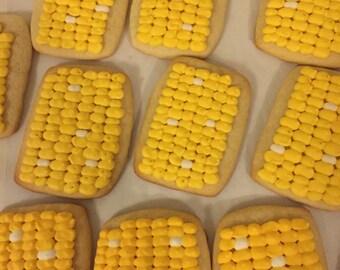 Corn on the Cob Sugar Cookies