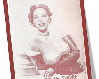 1951 DELICIADO Vintage Sheet Music Dinah Shore, Song Lyrics, Piano Arrangement,Guitar Chords