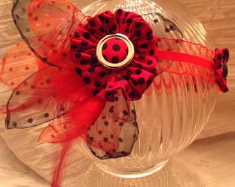 Red And Black Polka Dot Headband