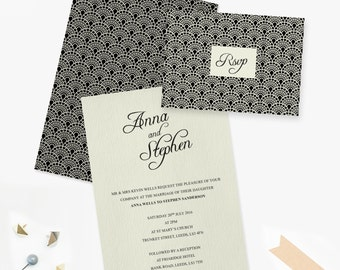 Gatsby / Art Deco Wedding Invitation