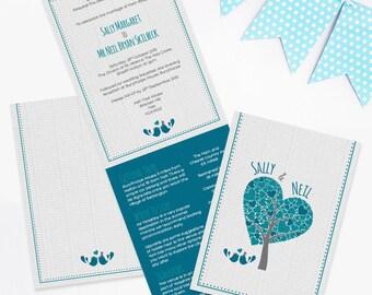 Lovebirds Folded Wedding Invitation