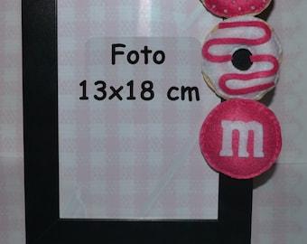 photo picture frame m&m's doughnut-gift idea
