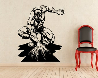 Wonder woman stickers wall superhero vinyl decals marvel for Black panther mural