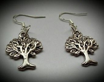 Tree of life sterling silver earrings