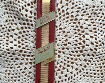 """Vintage Speidel Ladies Twist On Watch Band """"For Big Watches"""" Still in Package 1960 Era"""