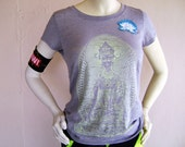 Supa Glow Grey Burnout Buddha Tee. You are one of a kind, dress that way!