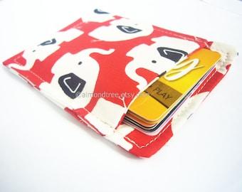 Elephant red slim card wallet, portefeuille, grab and go fabric card case, business card holder, id1360683, front pocket wallet, moneystash