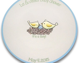 Birds of a Feather Baby Shower Signature Platter
