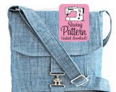 Messenger Bag PDF Sewing Pattern | Bag Sewing Pattern PDF | Cross Body Bag PDF Sewing Instructions