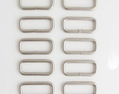 Rectangle Rings 1.5 Inch | 10  Satin Finish Rectangle Rings | Bag Hardware | Sewing Supplies | Bag Strap Hardware | Handbag Closure Supply