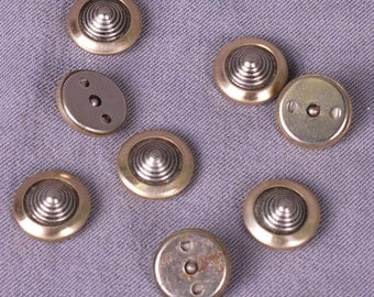 Metal Buttons for 2mm Rivets - 13mm - 50 Pieces (MBT13GOR-RV2-50)