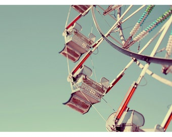 Photography - Ferris Wheel Photograph - Carnival - Fair - Summer Photograph - Fair Skies 1 - Original Fine Art Photograph - Oversized Art