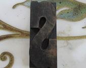 """4"""" Antique Letterpress Wood Type Printers Block Letter S"""