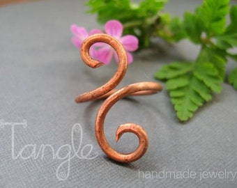 Reclaimed Copper Scroll Ring