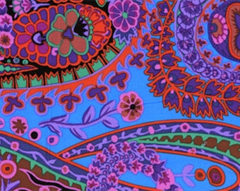 Paisley Jungle in Purple by Kaffe Fassett GP60 Westminster Fabric / 1/2 yard Cotton, Quilt Craft and Apparrell fabric