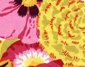 Bekah in Orange  Pink, Yellow,  by Kaffe Fassett GP69 Westminster Fabric / 1/2 yard Cotton, Quilt Craft and Apparel fabric