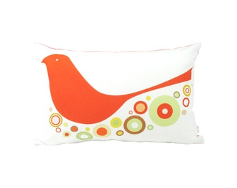 Limited Edition Orange Birdie Rectangle Pillow