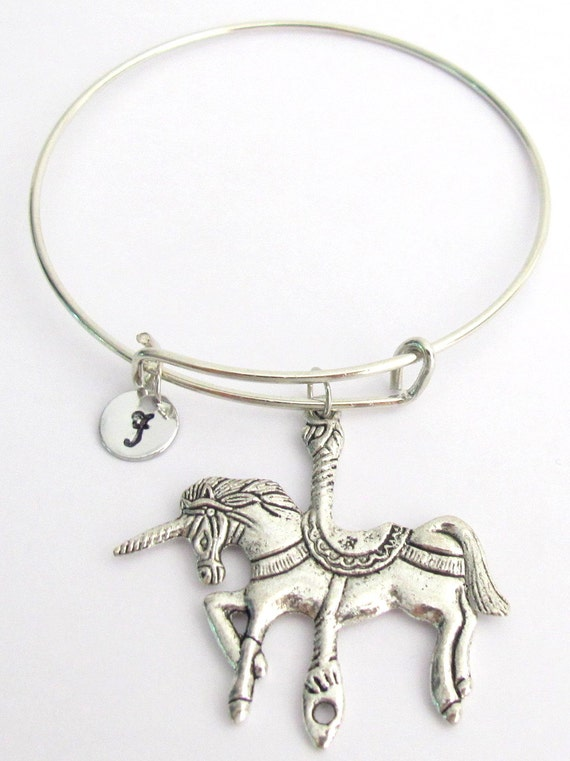 Unicorn Bangle Unicorn Expandable Bangle, Unicorn Personalized Bracelet,Unicorn  bangle, Personalized Bracelet Free Shipping In USA