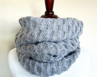 Honeycomb Infinity Scarf Knitting Pattern PDF