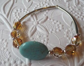 Stone and Crystal Bracelet