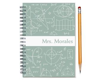 Math nerd custom planner, 2017-2018 weekly calendar, personalized calendar,  academic planner, math teacher gift, SKU: pli math wht