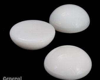 18mm Chalk White Round Cabochon (2 Pcs) #3545