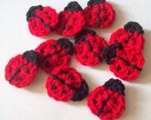 Crochet Ladybug Pattern, Instant Download PDF, Ladybug Applique Pattern, Embellishment Pattern, Easy Crochet Pattern